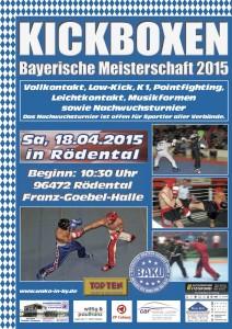 Plakat Bayerische Meisterschaft 2015